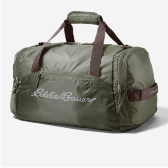 Eddie Bauer Handbags - Eddie Bauer Stowaway Packable Duffle Bag Travel bf76a20e71416
